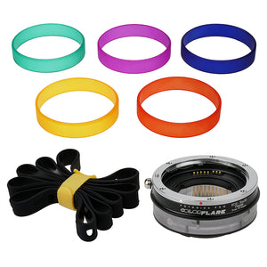 ArtFX ColorFlare FUSION Smart AF Adapter for Canon EOS (EF / EF-S) D/SLR Lens to Sony Alpha E-Mount Mirrorless Camera Body - Light Leak / Flare Inducing Adapter with Full Automated Functions from Fotodiox Pro