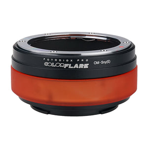 ArtFX ColorFlare Adapter for Olympus Zuiko (OM) 35mm SLR Lens to Sony Alpha E-Mount Mirrorless Camera Body - Light Leak / Flare Inducing Adapter from Fotodiox Pro **Clearance**