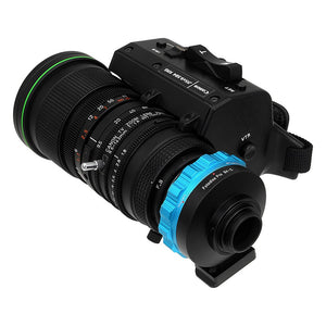 "Fotodiox Pro Lens Adapter - Compatible with B4 (2/3"") ENG Cine Lenses to C-Mount (1"" Screw Mount) Cine & CCTV Cameras"