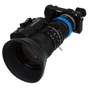 "Fotodiox Pro Lens Mount Adapter - B4 (2/3"") ENG Cine Lens to Sony Alpha E-Mount Mirrorless Camera Body"