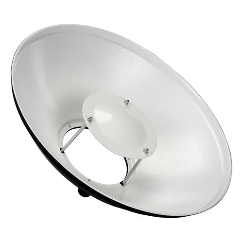 Fotodiox Pro Beauty Dish with Broncolor Speedring for Broncolor (Impact), Visatec, and Compatible - All Metal, Soft White Interior