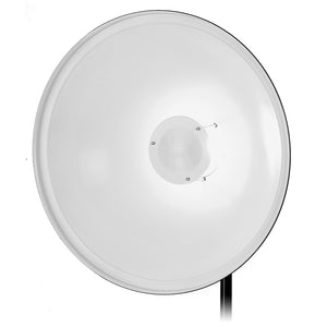 Fotodiox Pro Beauty Dish with Bowens Speedring for Bowens, Calumet, Interfit and Compatible - All Metal, Soft White Interior