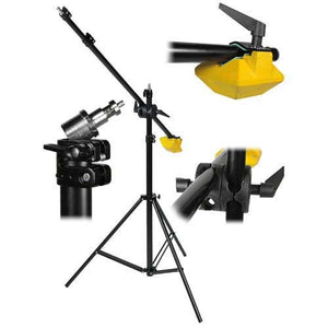 Heavy Duty Boomstand - Adjustable Boom Stand with 7-Foot Extendable Boom Arm and 10-Pound Iron Counter Balance