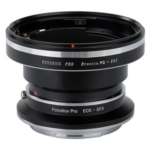 Fotodiox Pro Lens Mount Double Adapter, Bronica GS-1 (PG) Mount SLR and Canon EOS (EF / EF-S) D/SLR Lenses to Fujifilm G-Mount GFX Mirrorless Digital Camera Systems (such as GFX 50S and more)