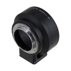Fotodiox Pro Lens Mount Adapter - Bronica S SLR Lens to Nikon F Mount SLR Camera Body