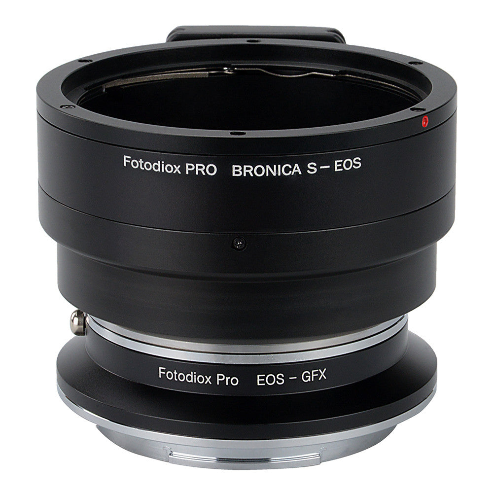 Fotodiox Pro Lens Mount Double Adapter, Bronica S Mount and Canon EOS (EF / EF-S) D/SLR Lenses to Fujifilm G-Mount GFX Mirrorless Digital Camera Systems (such as GFX 50S and more)