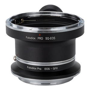 Fotodiox Pro Lens Mount Double Adapter, Bronica SQ Mount and Canon EOS (EF / EF-S) D/SLR Lenses to Fujifilm G-Mount GFX Mirrorless Digital Camera Systems (such as GFX 50S and more)