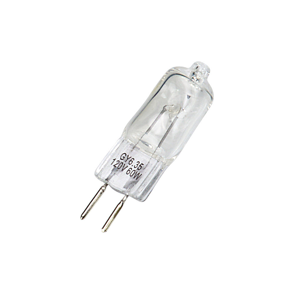 Replacement Modeling Bulb - JCD Type 60w 120v GY6 35 (2-Pin Base) Clear  Halogen Light Bulb