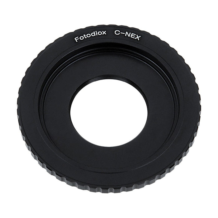 Fotodiox Lens Mount Adapter - C-Mount CCTV / Cine Lens to Sony Alpha E-Mount Mirrorless Camera Body