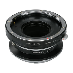 Fotodiox Pro Lens Mount Double Adapter, Contax 645 (C645) Mount and Canon EOS (EF / EF-S) D/SLR Lenses to Fujifilm G-Mount GFX Mirrorless Digital Camera Systems (such as GFX 50S and more)