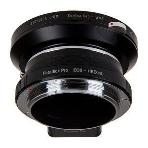 Fotodiox Pro Lens Mount Double Adapter, Contax 645 (C645) Mount and Canon EOS (EF / EF-S) D/SLR Lenses to Hasselblad XCD Mount Mirrorless Digital Camera Systems (such as X1D-50c and more)