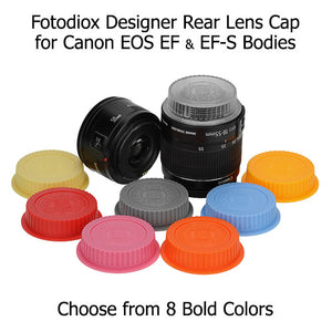 Fotodiox Designer Yellow Rear Lens Cap for all Canon EOS Lenses (fits both EF & EF-s Lenses)