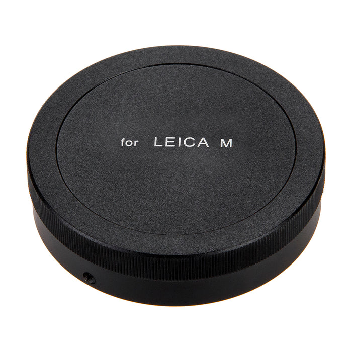Fotodiox Leica M Metal Rear Lens Cap - Black Protective Rear Cap for Leica M Mount Camera Lenses