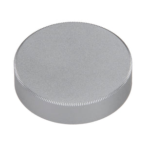 Fotodiox M39/L39 Metal Rear Lens Cap - Silver Protective Rear Cap for 39mm Thread Screw Mount Camera Lenses