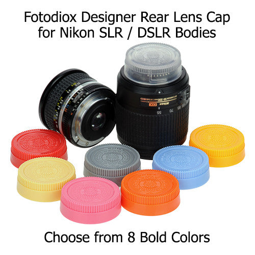 Fotodiox Designer Yellow Rear Lens Cap for All Nikon / Nikkor F Lenses(fits F, non-AI, AI, AIS, AF, AFD, AFS, G, DX, FX Lenses)