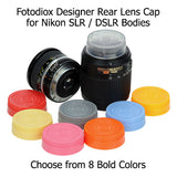 Designer Rear Lens Cap for All Nikon F Mount Lenses