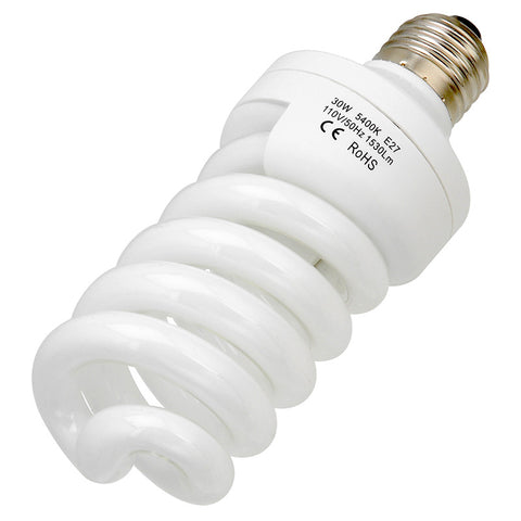 30 Watt Daylight Compact Fluorescent (CFL) Light Bulb