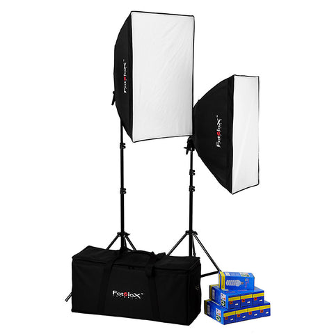 Fotodiox Pro CFL3057 Compact Studio Continous Fluorescent Softbox Lighting Kit