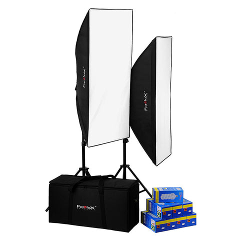 Fotodiox Pro CFL-50120 Compact Studio Continous Fluorescent Softbox Lighting Kit
