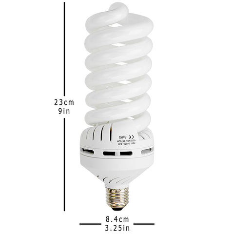 70 Watt Daylight Compact Fluorescent (CFL) Light Bulb – Fotodiox ...