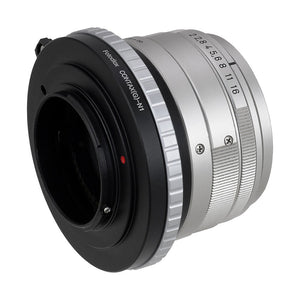 Fotodiox Lens Mount Adapter - Contax G SLR Lens to Nikon 1-Series Mirrorless Camera Body, with Focus Dial