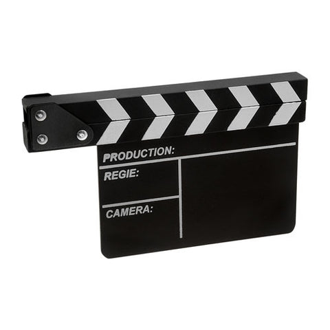 "Fotodiox Movie Clapboard (Clapper), Production Slate, Directors Slate Board - 8""x10.5"" Size"