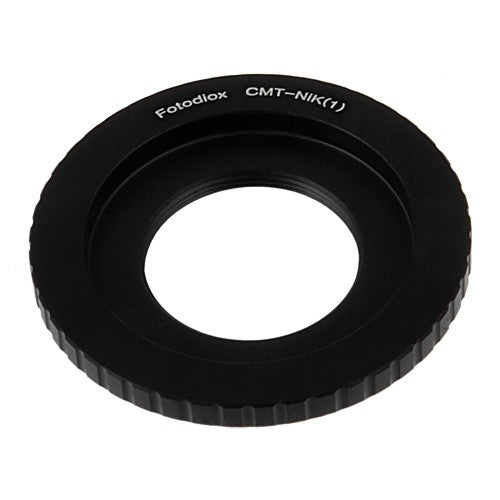 Fotodiox Lens Mount Adapter - C-Mount CCTV / Cine Lens to Nikon 1-Series Mirrorless Camera Body