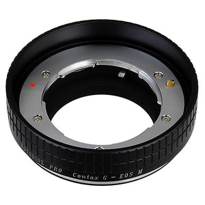 Fotodiox Pro Lens Mount Adapter - Contax G Lens to Canon EOS M (EF-M Mount) Mirrorless Camera Body with Built-In Focus Control Dial