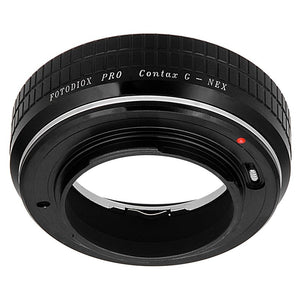 Fotodiox Pro Lens Mount Adapter - Contax G Rangefinder Lens to Sony Alpha E-Mount Mirrorless Camera Body with Built-in Focus Control Dial