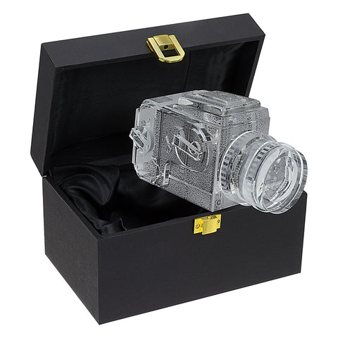 Fotodiox Crystal Medium Format Camera Display Model - 2/3 of Real Life Size Replica of Hasselblad 503CM w/ 80mm f/2.8 CF Lens; Paperweight, Book Shelf, Bookends, Paper Weight