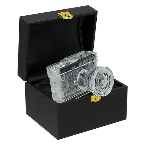 Fotodiox Crystal Rangefinder Camera Display Model - 2/3 of Real Life Size Replica of Leica M9 Camera w/ Summicron 28mm f/2 Lens; Paperweight, Book Shelf, Bookends, Paper Weight