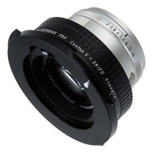 Fotodiox Pro Lens Mount Adapter - Contax G SLR Lens to Sony CineAlta FZ-Mount Camera Bodies