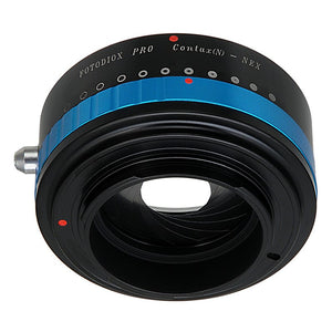 Fotodiox Pro Lens Mount Adapter - Contax N SLR Lens to Sony Alpha E-Mount Mirrorless Camera Body with Built-In Aperture Iris