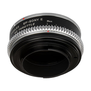 Vizelex Cine ND Throttle Lens Mount Double Adapter - Contax/Yashica (CY) SLR & Canon EOS (EF, EF-S) Mount Lenses to Sony Alpha E-Mount Mirrorless Camera Body with Built-In Variable ND Filter (1 to 8 Stops)