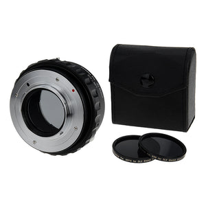 Fotodiox DLX Stretch Lens Mount Adapter - Contax/Yashica (CY) SLR Lens to Micro Four Thirds (MFT, M4/3) Mount Mirrorless Camera Body with Macro Focusing Helicoid and Magnetic Drop-In Filters