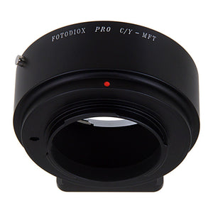 Fotodiox Pro Lens Mount Adapter - Contax/Yashica (CY) SLR Lens to Micro Four Thirds (MFT, M4/3) Mount Mirrorless Camera Body