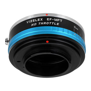 Vizelex ND Throttle Lens Mount Adapter - Contax/Yashica (CY) SLR Lens to Micro Four Thirds (MFT, M4/3) Mount Mirrorless Camera Body, with Built-In Variable ND Filter (1 to 8 Stops)