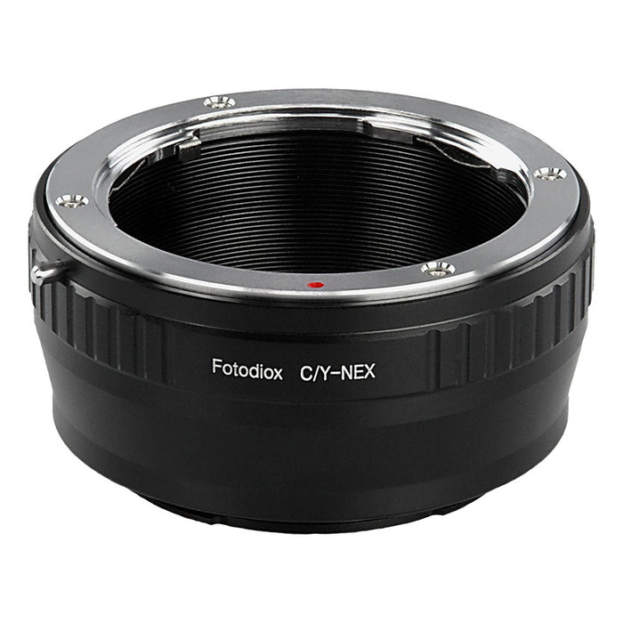 Fotodiox Lens Mount Adapter - Contax/Yashica (CY) SLR Lens to Sony Alpha E-Mount Mirrorless Camera Body