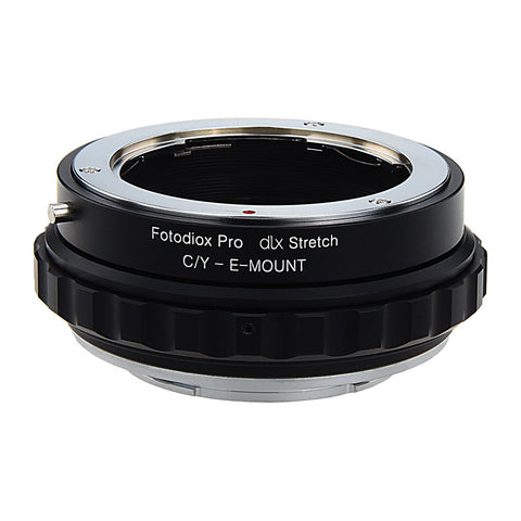 Fotodiox DLX Stretch Lens Mount Adapter - Contax/Yashica (CY) SLR Lens to Sony Alpha E-Mount Mirrorless Camera Body with Macro Focusing Helicoid and Magnetic Drop-In Filters
