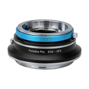 Fotodiox Pro Lens Mount Double Adapter, Deckel-Bayonett (Deckel Bayonet, DKL) Mount SLR and Canon EOS (EF / EF-S) D/SLR Lenses to Fujifilm G-Mount GFX Mirrorless Digital Camera Systems (such as GFX 50S and more)