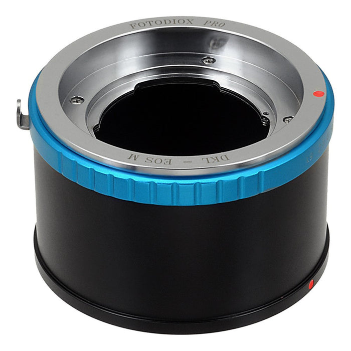 Fotodiox Pro Lens Mount Adapter - Deckel-Bayonett (Deckel Bayonet, DKL) Mount SLR Lens to Canon EOS M (EF-M Mount) Mirrorless Camera Body with Selectable Clicked / Declicked Aperture Control