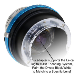 Fotodiox Pro Lens Adapter with Leica 6-Bit M-Coding - Compatible with Deckel-Bayonett (Deckel Bayonet, DKL) Mount SLR Lenses to Leica M Mount Rangefinder Cameras