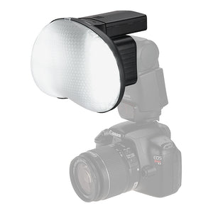 DragonEye Speedlight Diffuser with LED light for Video from Fotodiox Pro