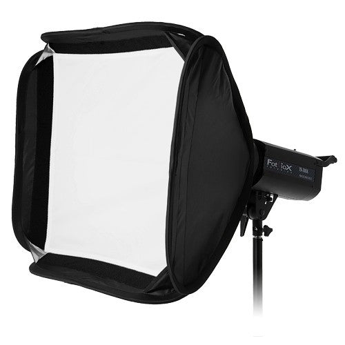 Fotodiox Pro Foldable Softbox PLUS Grid (Eggcrate) with Quantum Qflash Speedring for Quantum, TRIO Flash and Compatible Strobes