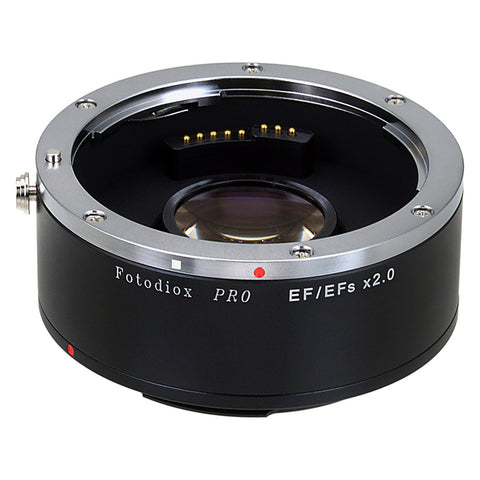 Fotodiox Pro Autofocus 2x Teleconverter - AF Doubler x2.0 for Canon EOS EF, EF-S Camera and Lens (APS-C & Full Frame)