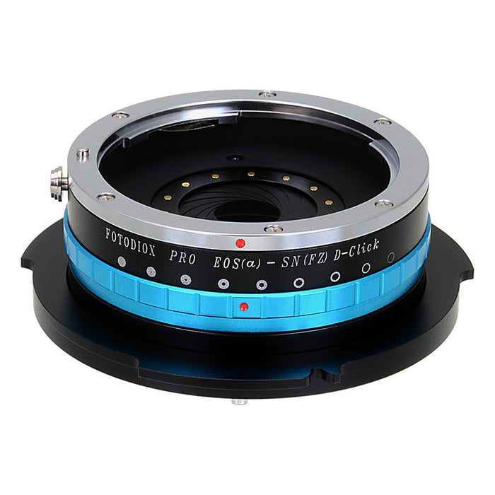 Fotodiox Pro Lens Mount Adapter - Canon EOS EF Mount Lens (Not EF-s)  to Sony CineAlta FZ-Mount Camera Bodies with Built-In Aperture Iris