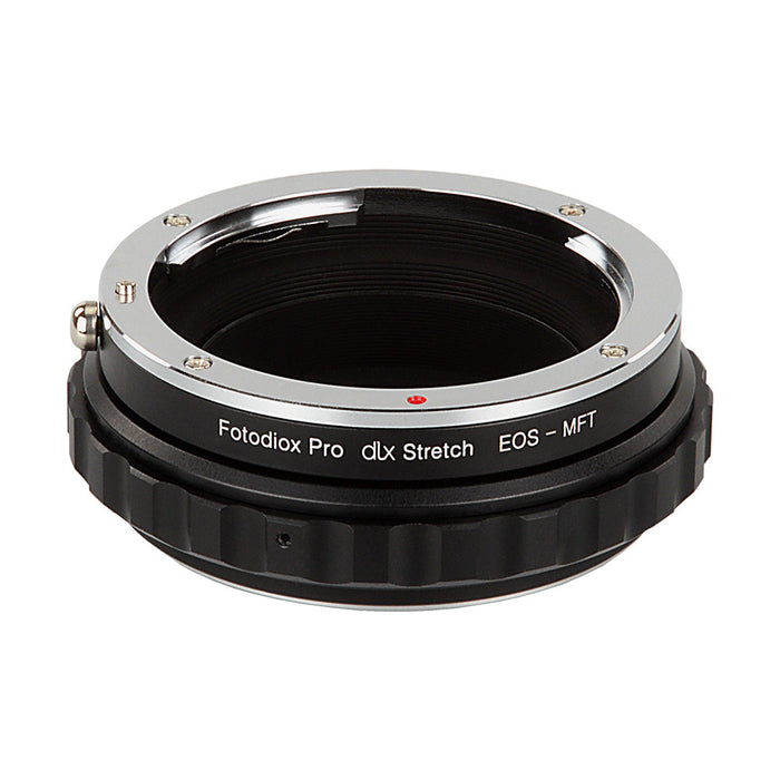 Fotodiox DLX Stretch Lens Mount Adapter - Canon EOS (EF / EF-S) D/SLR Lens to Micro Four Thirds (MFT, M4/3) Mount Mirrorless Camera Body with Macro Focusing Helicoid and Magnetic Drop-In Filters