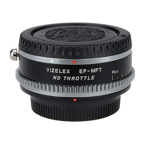 Vizelex Cine ND Throttle Lens Mount Adapter - Canon EOS (EF / EF-S) D/SLR Lens to Micro Four Thirds (MFT, M4/3) Mount Mirrorless Camera Body with Built-In Variable ND Filter (1 to 8 Stops)