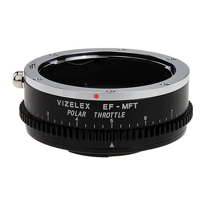 Vizelex Polar Throttle Lens Mount Adapter - Canon EOS (EF / EF-S) D/SLR Lens to Micro Four Thirds (MFT, M4/3) Mount Mirrorless Camera Body with Built-In Circular Polarizing Filter