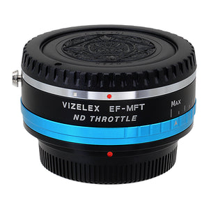 Vizelex ND Throttle Lens Mount Adapter - Canon EOS (EF / EF-S) D/SLR Lens to Micro Four Thirds (MFT, M4/3) Mount Mirrorless Camera Body with Built-In Variable ND Filter (1 to 8 Stops)